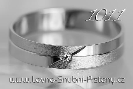 Snubní prsteny LSP 1011b + briliant, zlato 14 kar. - Obrázek č. 1