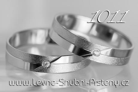 Snubní prsteny LSP 1011b + zirkon, zlato 14 kar. - Obrázek č. 1