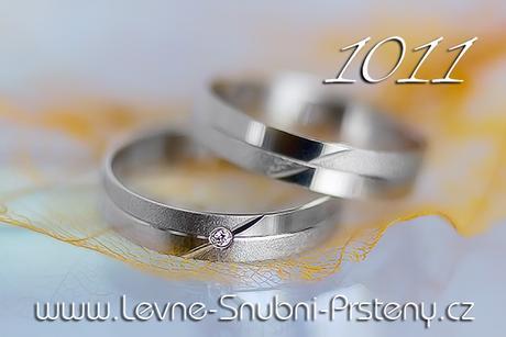 Snubní prsteny LSP 1011b - bez kamene, zlato 14 k. - Obrázek č. 1