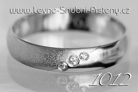 Snubní prsteny LSP 1012b + brilianty, zlato 14 k. - Obrázek č. 1