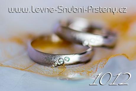 Snubní prsteny LSP 1012b + zirkony, zlato 14 kar. - Obrázek č. 1