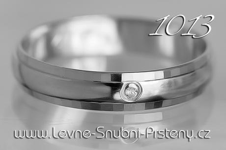 Snubní prsteny LSP 1013b + briliant, zlato 14 kar. - Obrázek č. 1
