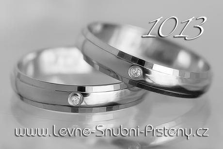 Snubní prsteny LSP 1013b + zirkony, zlato 14 kar. - Obrázek č. 1