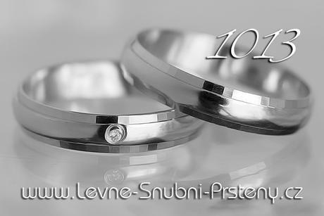 Snubní prsteny LSP 1013b - bez kamene, zlato 14 k. - Obrázek č. 1