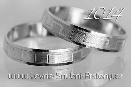 Snubní prsteny LSP 1014b, zlato 14 karátů - Obrázek č. 1