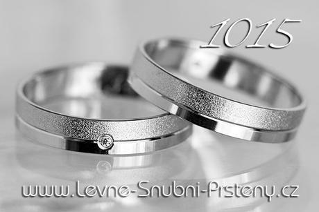 Snubní prsteny LSP 1015b - bez kamene, zlato 14 k. - Obrázek č. 1