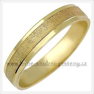 Snubní prsteny LSP 1016 + briliant, zlato 14 kar. - Obrázek č. 1