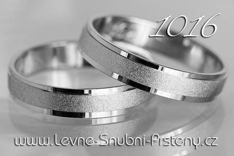Snubní prsteny LSP 1016b + briliant, zlato 14 kar. - Obrázek č. 1