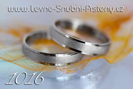 Snubní prsteny LSP 1016b + zirkon, zlato 14 kar. - Obrázek č. 1