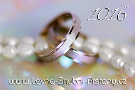Snubní prsteny LSP 1016b - bez kamene, zlato 14 k. - Obrázek č. 1