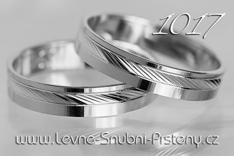 Snubní prsteny LSP 1017b - bez kamene, zlato 14 k. - Obrázek č. 1