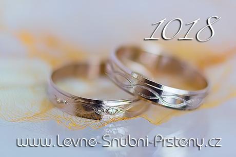 Snubní prsteny LSP 1018bz + zirkon, zlato 14 kar. - Obrázek č. 1