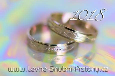 Snubní prsteny LSP 1018b - bez kamene, zlato 14 k. - Obrázek č. 1