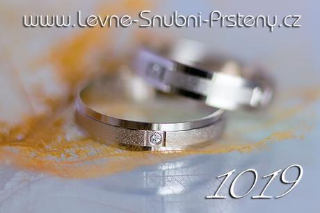 Snubní prsteny LSP 1019bz + zirkony, zlato 14 kar. - Obrázek č. 1