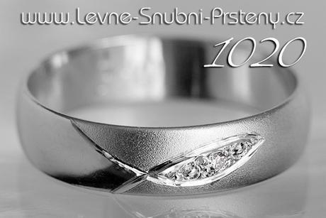 Snubní prsteny LSP 1020b + brilianty, zlato 14 k. - Obrázek č. 1