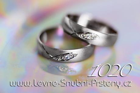 Snubní prsteny LSP 1020bz + zirkony, zlato 14 kar. - Obrázek č. 1