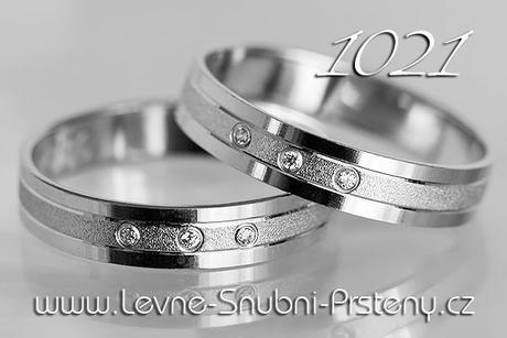 Snubní prsteny LSP 1021b + brilianty, zlato 14 k. - Obrázek č. 1