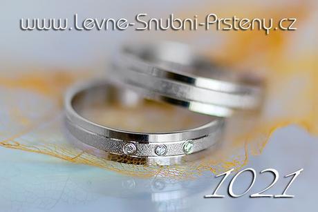 Snubní prsteny LSP 1021bz + zirkony, zlato 14 kar. - Obrázek č. 1