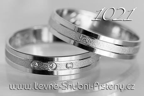Snubní prsteny LSP 1021bz - bez kamene, zlato 14 k - Obrázek č. 1