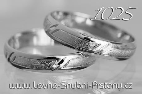 Snubní prsteny LSP 1025b - bez kamene, zlato 14 k. - Obrázek č. 1