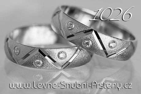 Snubní prsteny LSP 1026b + brilianty, zlato 14 k. - Obrázek č. 1