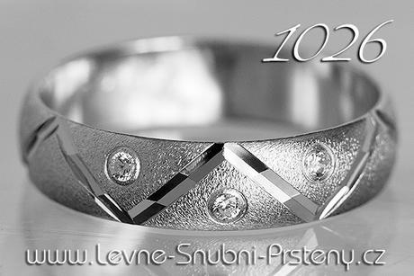 Snubní prsteny LSP 1026bz + zirkony, zlato 14 kar. - Obrázek č. 1