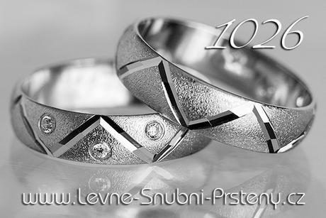 Snubní prsteny LSP 1026bz - bez kamene, zlato 14k. - Obrázek č. 1