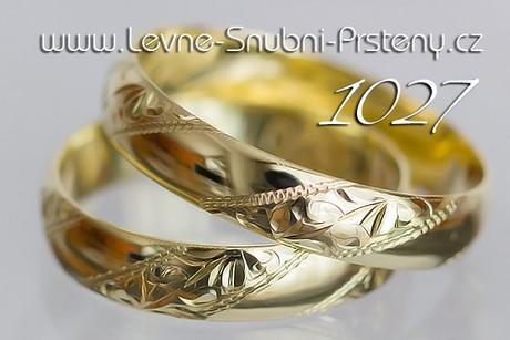 Snubní prsteny LSP 1027 - bez kamene, zlato 14 k. - Obrázek č. 1