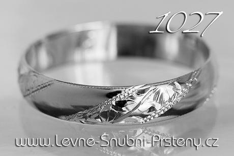 Snubní prsteny LSP 1027b - bez kamene, zlato 14 k. - Obrázek č. 1