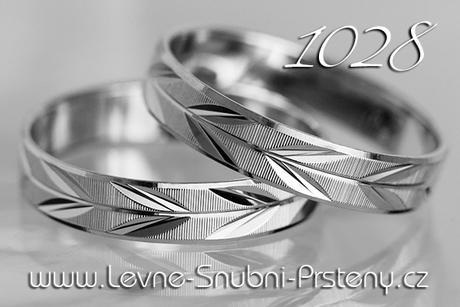Snubní prsteny LSP 1028b - bez kamene, zlato 14 k. - Obrázek č. 1