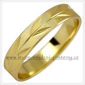 Snubní prsteny LSP 1028 - bez kamene, zlato 14 k.,