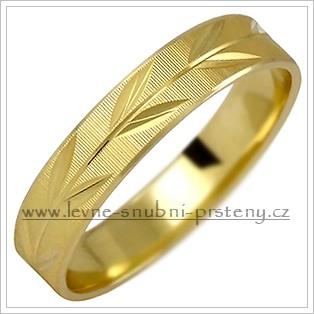 Snubní prsteny LSP 1028 - bez kamene, zlato 14 k. - Obrázek č. 1