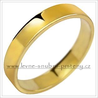 Snubní prsteny LSP 1029 - bez kamene, zlato 14 k. - Obrázek č. 1