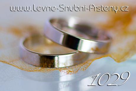 Snubní prsteny LSP 1029b - bez kamene, zlato 14 k. - Obrázek č. 1