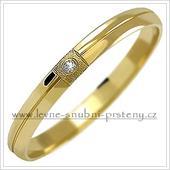 Snubní prsteny LSP 1030 + briliant, zlato 14 k.,
