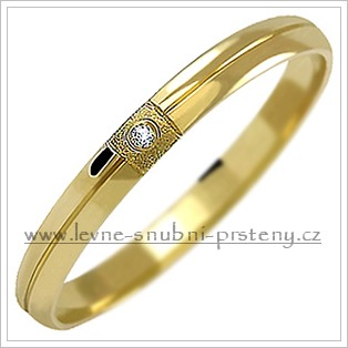Snubní prsteny LSP 1030z + zirkon, zlato 14 kar. - Obrázek č. 1