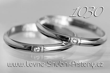 Snubní prsteny LSP 1030bz + zirkon, zlato 14 kar. - Obrázek č. 1