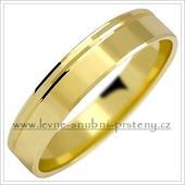 Snubní prsteny LSP 1031 - bez kamene, zlato 14 k.,