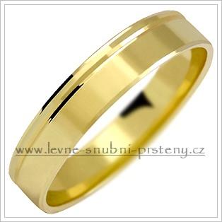 Snubní prsteny LSP 1031 - bez kamene, zlato 14 k. - Obrázek č. 1