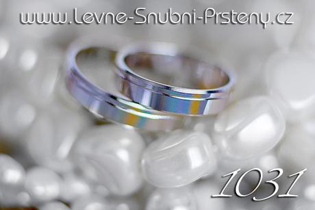 Snubní prsteny LSP 1031b - bez kamene, zlato 14 k. - Obrázek č. 1