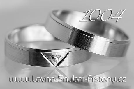 Snubní prsteny LSP 1004b + briliant, zlato 14 kar. - Obrázek č. 1