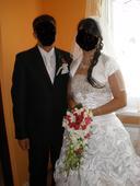 svadobné šaty . vel.42, 42