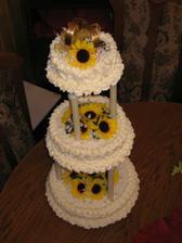 Nasa nadherna svadobna torta. Majka dakujeme :-)))))