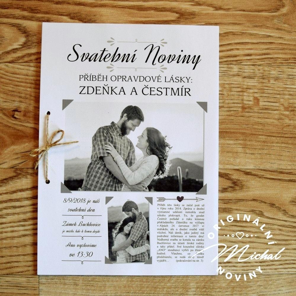 Svatební noviny/tiskoviny - Obrázek č. 1