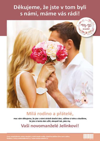 Svatební noviny/tiskoviny - Obrázek č. 2