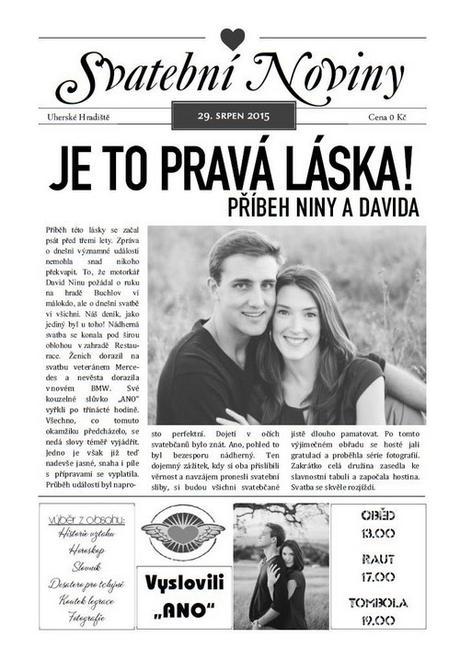 Svatební noviny/tiskoviny - Obrázek č. 3