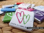 Čokoládka 5g série 2Hearts - různé barvy,