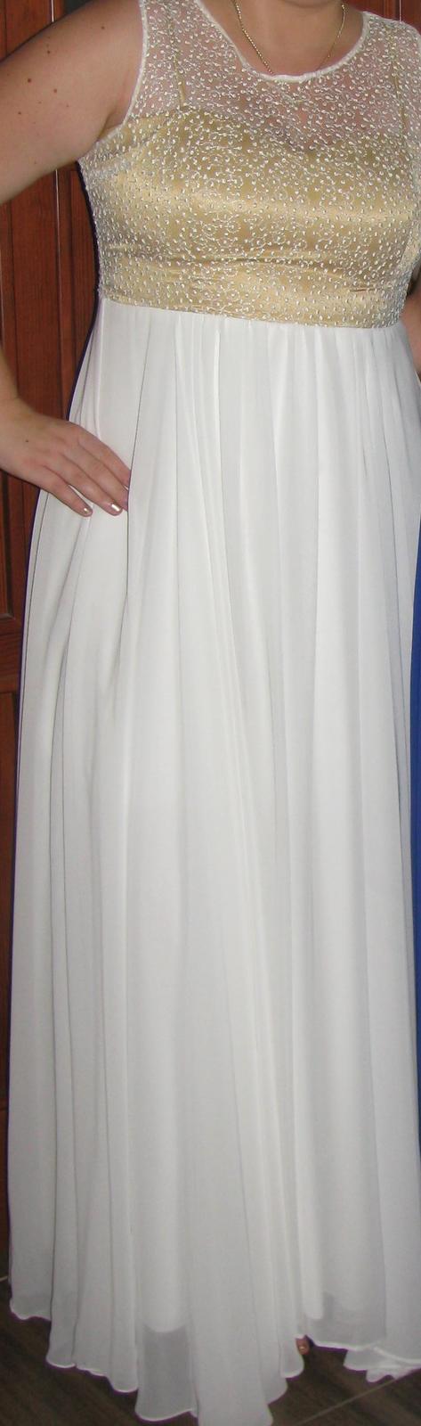 Jednoduché svadobné alebo spoločenské šaty - Obrázok č. 3