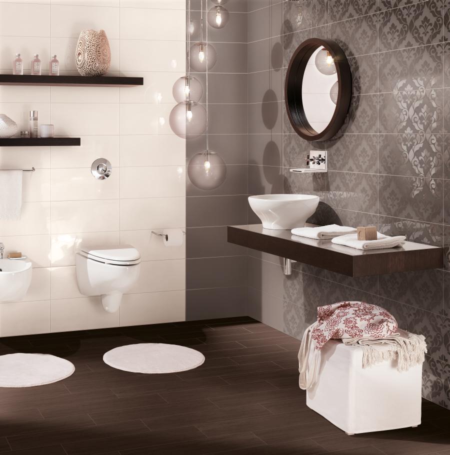 Hnedé kúpeľne - obklady do kúpeľní v teplých farbách - www.tarchi.sk/Kupelna