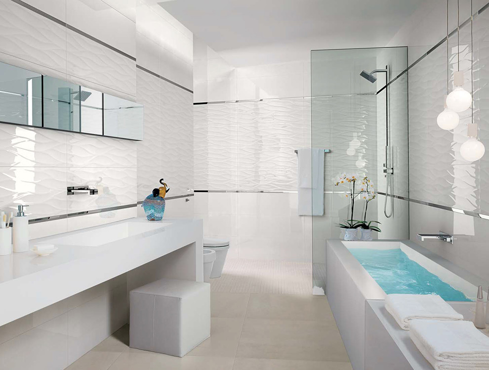 Biele obklady * Kúpeľne - Biele obklady * Kúpeľne